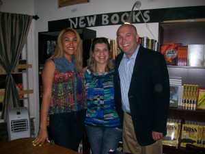 Author Andrew Wolfenson and his staff, June 15, 2013, at Tachair: Art, Books & Conversation